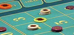Betting chips on numbers